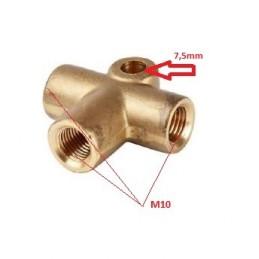 Tee Conector de 3 vías tipo T (M10)