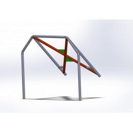 Arco 4 Puntos CALLE con X trasera con Cartelas