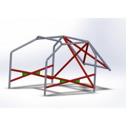 Arco 6 Puntos CALLE con refuerzo en X en puertas y doble X