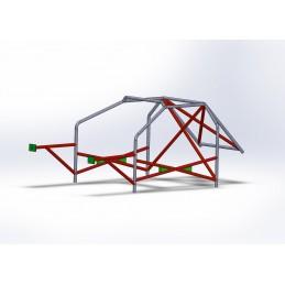 Arco 8 Puntos CALLE hasta torretas con refuerzo en X en puertas y doble X