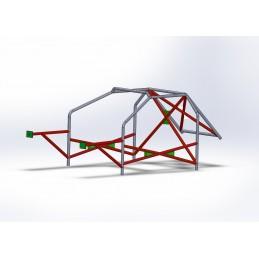 Arco 8 Puntos CALLE hasta torretas con refuerzo en X en puertas y doble X (central con cartelas)