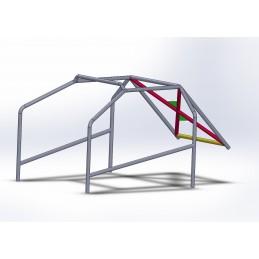 Arco 6 Puntos COMPETICIÓN con X trasera con Cartelas