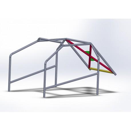 Arco 6 Puntos COMPETICION con X trasera con Cartelas