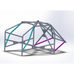 Arco 6 Puntos COMPETICION Completo con cartelas en X Trasera