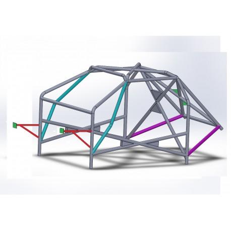 Arco 8 Puntos COMPETICION Completo con cartelas en X trasera