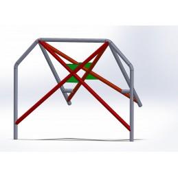 Arco 4 Puntos CALLE con doble X con Cartelas