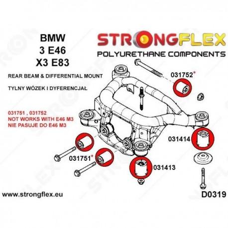 Kit Strongflex puente trasero e46 completo