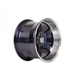 "Llanta 59°North Wheels D-004 11x18"" ET15 5x114/5x120 Blurple/polished lip"
