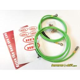 Kit Latiguillos HEL para freno de mano hidraulico Verdes