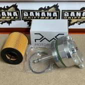 """PMC Motorsport Oil filter lid (cap) with oil cooler fittings and 2 sensor ports BMW M52 M54 M56 Stock lid replacement OEM part no. 11421744000 with advantages, this forged aluminium lid is ideal for installing oil pressure and temperature gauges on your BMW.Featuring two 1/8"""" NPT ports (common thread size for gauge sensors) and two male Dash 10 fittings, this lid makes installing sensors quick and easy, as well as attaching an additional oil cooler.The lid includes an extra insert with a 10x100 thread, particularly suited for feeding oil to your turbo.Fit to:BMW E36 (M52 only) BMW E38 (M52, 740d) BMW E39 (M52, M54) BMW E46 (M52, M54) BMW E60, E61 (M54) BMW E65, E66 (M54, 740d) X3 E83 (2.5i, 3.0i) X5 E53 (3.0i) BMW Z3 (2.0i, 2.2i, 2.5i, 2.8i, 3.0i) BMW Z4 E85 (2.2i, 2.5i, 3.0i) Made of highest quality aluminium material, CNC machined handmade assembly. The adapter makes the easy flow of oil, guarantee on reducing oil temperature in Your engine bay till -40%. Using OEM cheap oil filter! Recommended for turbocharged BMW"""